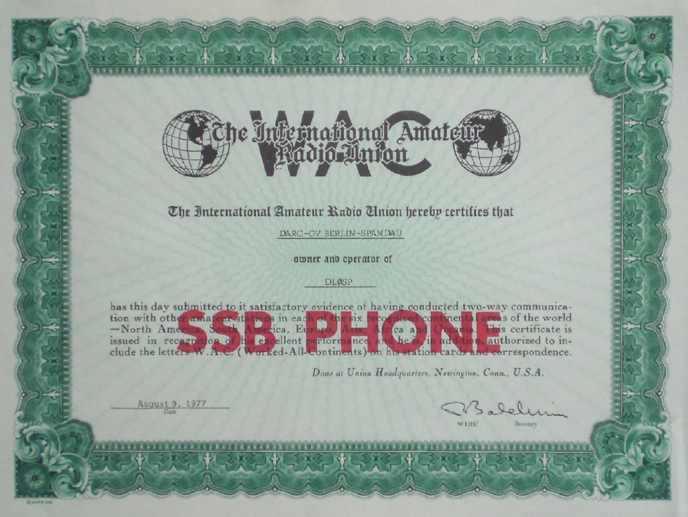 WAC SSB Phone